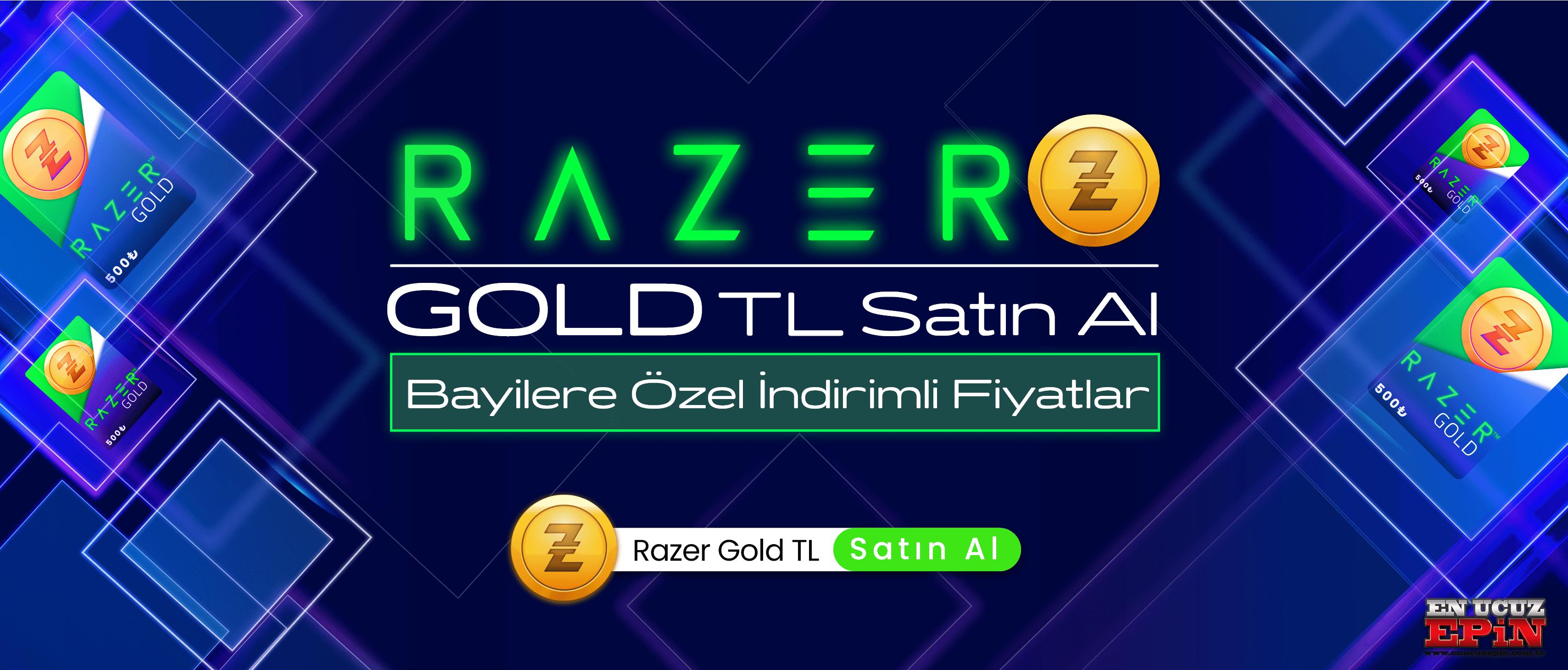 Razer Gold TL Satın al - Bayilere özel indirimli fiyatlar ile hemen satın al EnucuzEpin-min